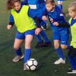 Year 3 and 4 Girls in Football Fun